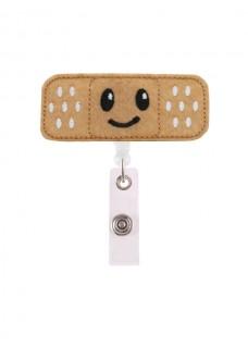 Pinza Porta tarjetas ID Retráctil Tirita Smile