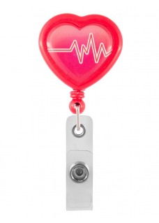 Yoyo Retráctil Porta Tarjeta Corazón ECG