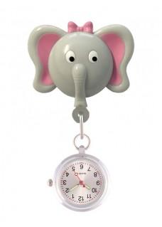 Reloj Enfermera Elefante Retráctil