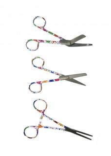 Set de tijeras para enfermeras Flores Bordadas