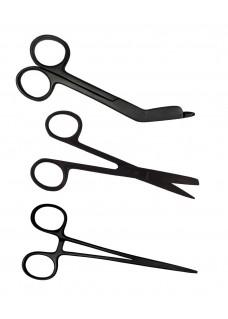 Zurdos - Set de tijeras de enfermera Stealth Black