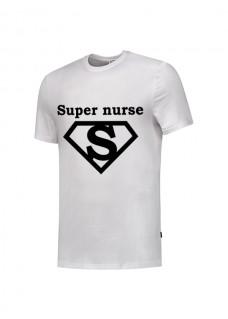 Camiseta Super Nurse 1 Blanca