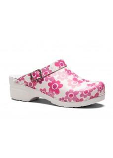 Toffeln Flexi Clog Pink Flower