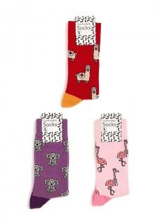 Set de Calcetines para Mujer con Animales
