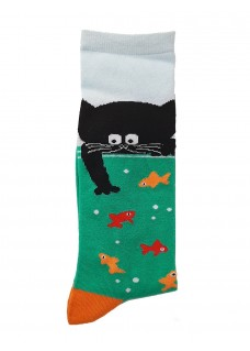 Calcetines Happy Gato para Mujer