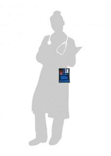 Organizador de bolsillo Negro/Azul + accesorios GRATIS