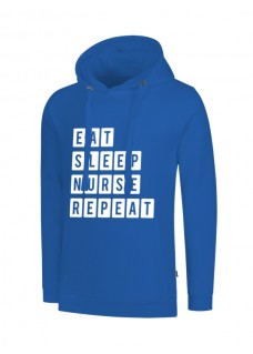 Sudadera Eat Sleep Nurse Repeat Azul