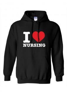 Sudadera Gildan I Love Nursing