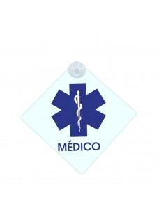 Cartel con Ventosa para Coche Esculapio Médico