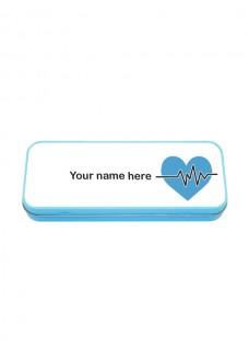 Estuche Metálico Azul ECG Azul