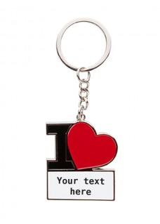 Llavero I Love Nursing con tu Nombre o Texto Personalizado