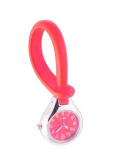 Reloj de silicona para colgar Rojo