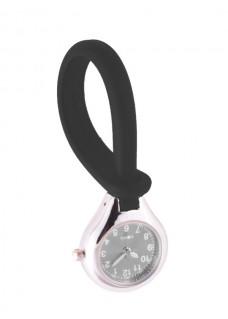 Reloj de silicona para colgar Negro