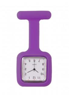 Reloj de enfermera Cuadrado Violeta