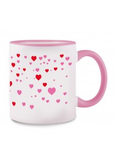 Taza Stick Heart Rosa