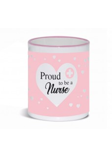 Taza Proud to be a Nurse 3 Rosa