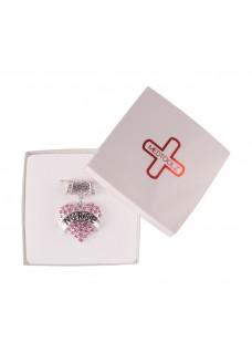 Collar colgante Corazón rosa