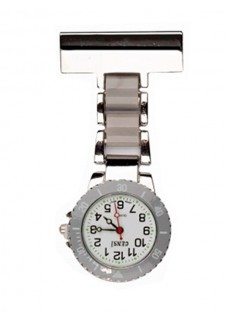 Reloj para enfermeras Plateado Gris