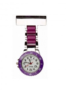Reloj para enfermeras Plateado Morado