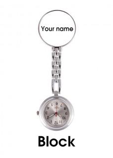 Reloj Enfermera con tu Nombre
