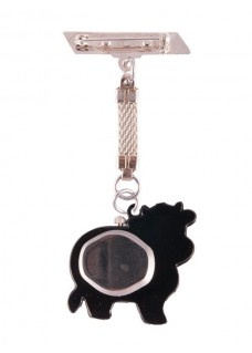 Reloj de Enfermeras Vaca Negro