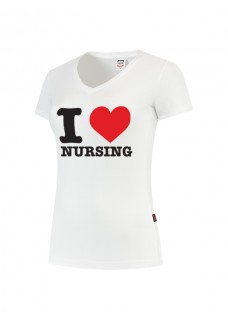 Camiseta Mujer I Love Nursing Blanca