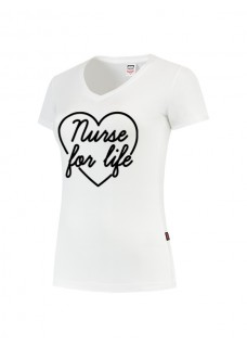 Camiseta Mujer Nurse For Life Blanca