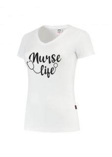 Camiseta Mujer Nurse Life Blanca