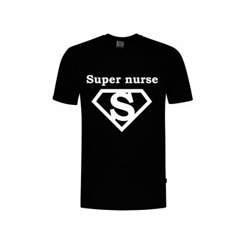 Camiseta Super Nurse 1  Negra