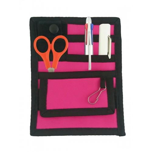 Organizador de bolsillo Negro/Rosa + accesorios GRATIS