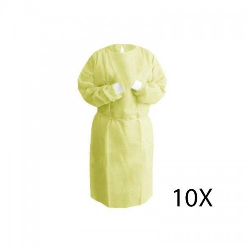 Delantal Desechable Polipropileno 10 Unidades