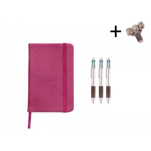 Set Cuaderno A5 + Bolis Rosa