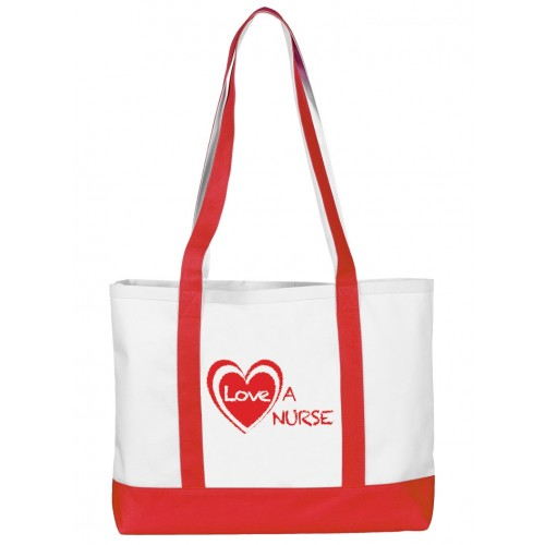 Bolso de enfermería de lona Grande Love a Nurse