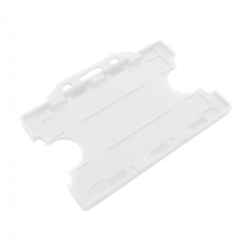 Porta tarjetas Blanco Doble Cara