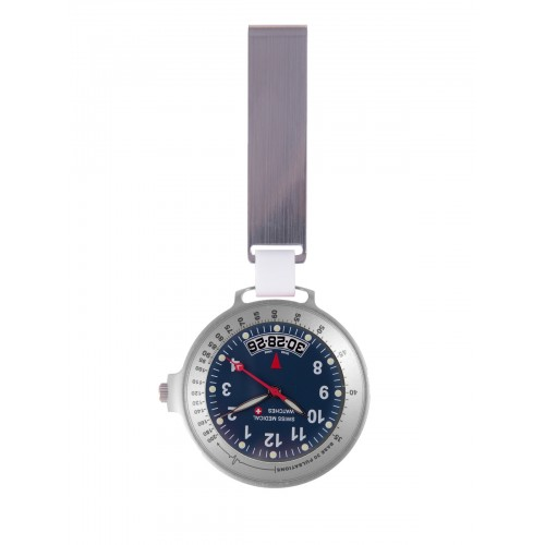 Reloj Swiss Medical Care Line Plata Azul - Edición Limitada