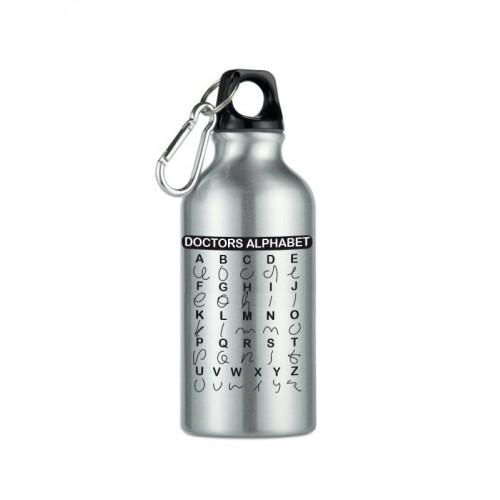 Botella Bidón Doctors Alphabet Plateada