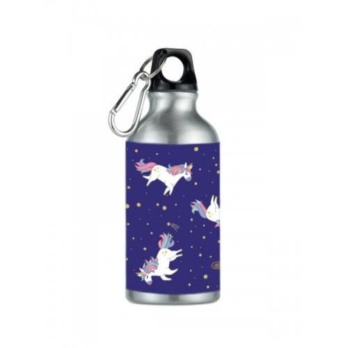 Botella Bidón Unicornio Plateada