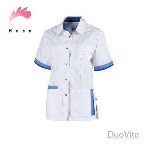 Haen Casaca Sanitaria Bente Blanca Azul