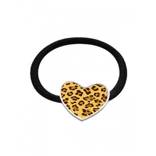 Coletero Elástico Leopardo Corazón