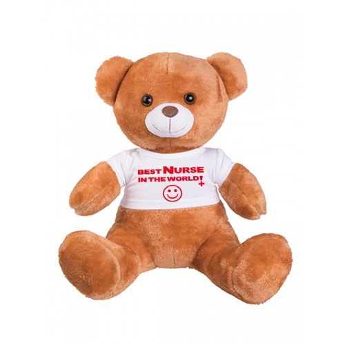Oso de Peluche Best Nurse In The World con Grabado Incluido