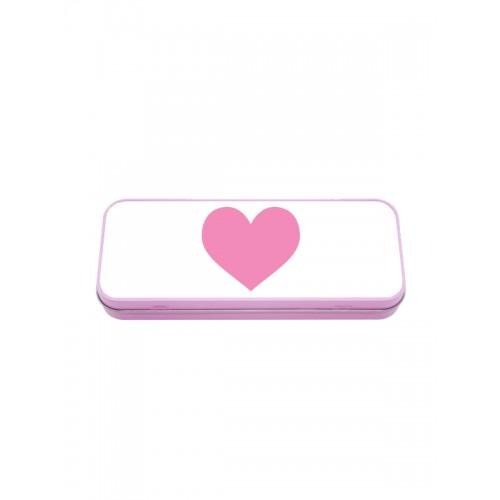 Estuche Metálico Corazón Rosa