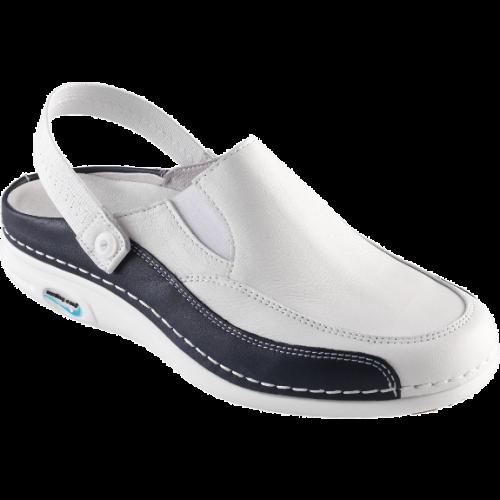 Zapatillas Enfermera NursingCare IN33P Azul Marino y blanco