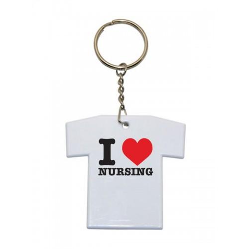 Llavero Camiseta I Love Nursing