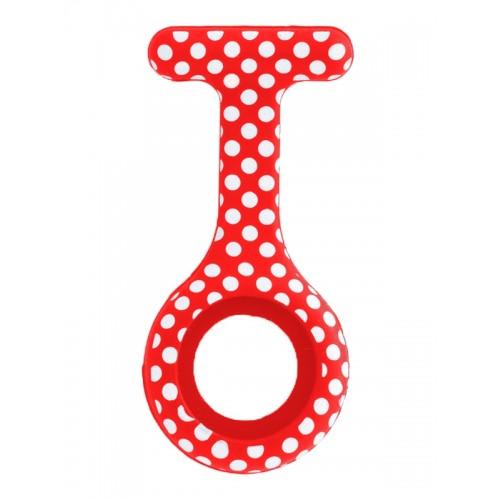 Funda de Silicona Polka Dots Rojo