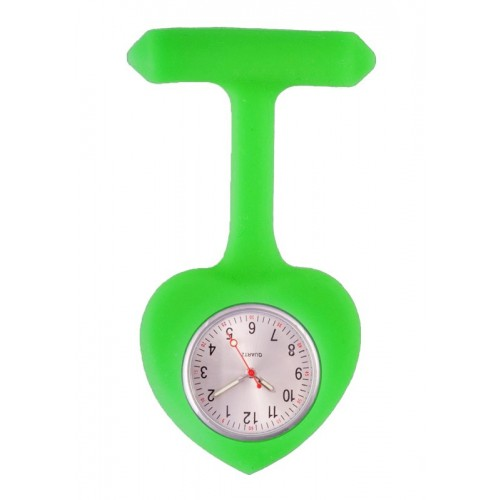 Reloj para Enfermera silicona Corazón Verde Lima