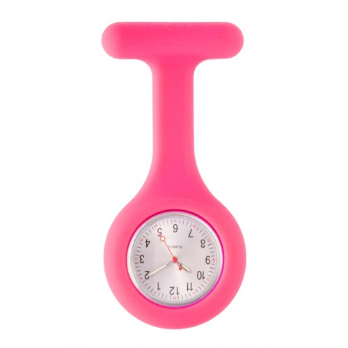 Reloj Enfermera Silicona estándar Rosa