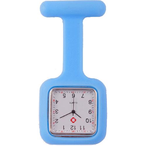 Reloj de enfermera Cuadrado Azul