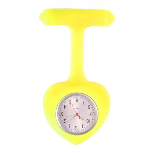 Reloj para Enfermera silicona Corazón Amarillo
