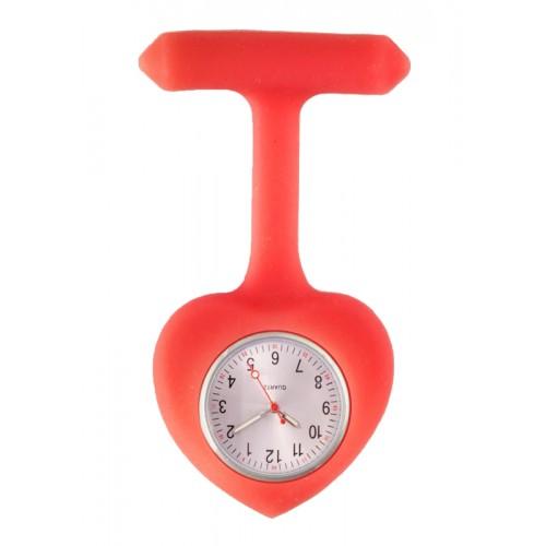 Reloj para Enfermera silicona Corazón Rojo