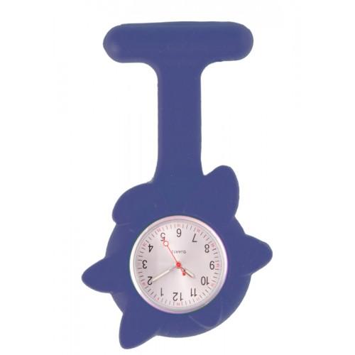 Reloj Enfermera Flor Primavera Azul Marino